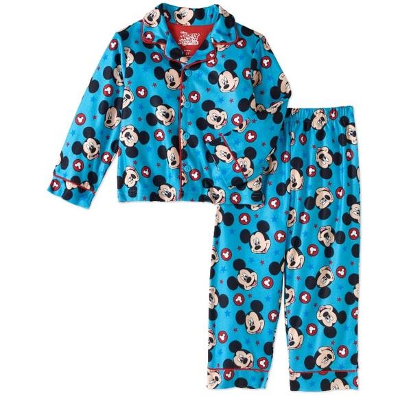 Disney Mickey Mouse Boys Toddler Pajama Set Size 2T 4T 5T NWT